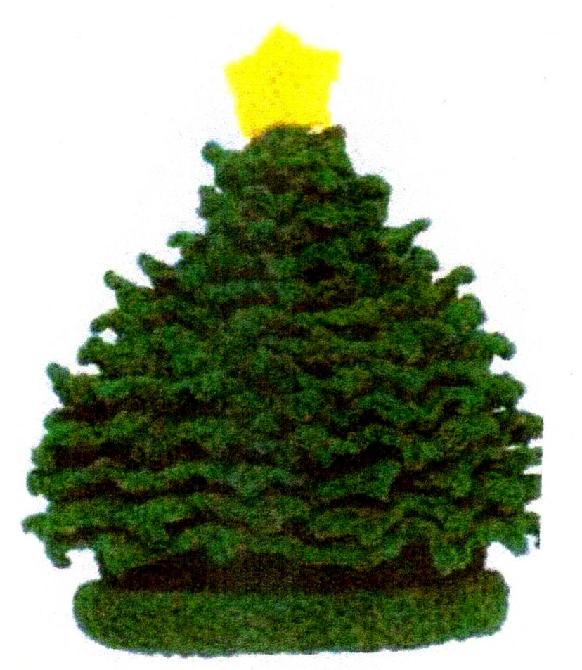 Knitted Christmas Tree Hat Pattern :   UKTOTW   Knitted Christmas Tree Hats