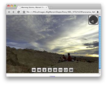 Moroni Slopes panorama in a browser window
